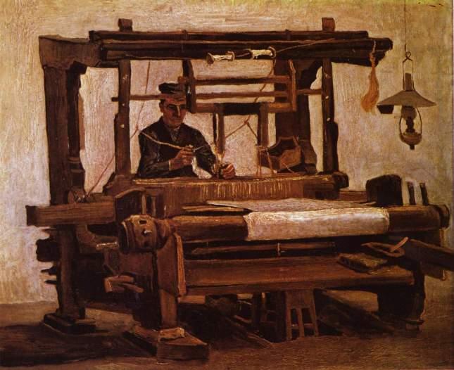 El tejedor en el telar