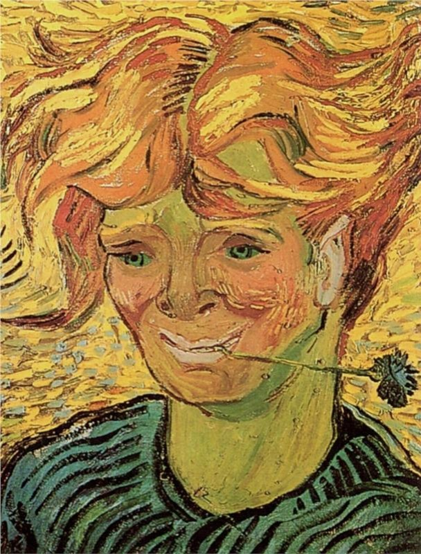 Hombre joven con flor de maíz