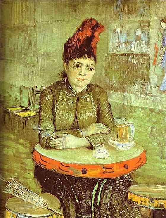 Mujer en el Café de Tambourin