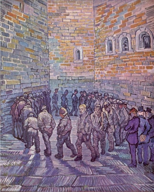 Prisioneros haciendo ejercicio