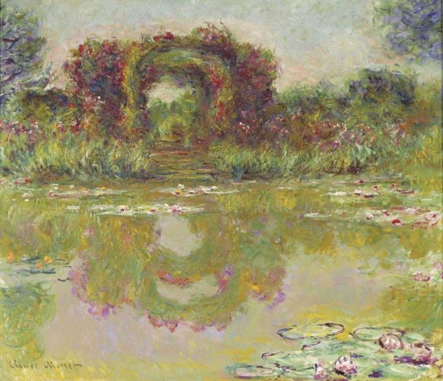 Arco de rosas en Giverny