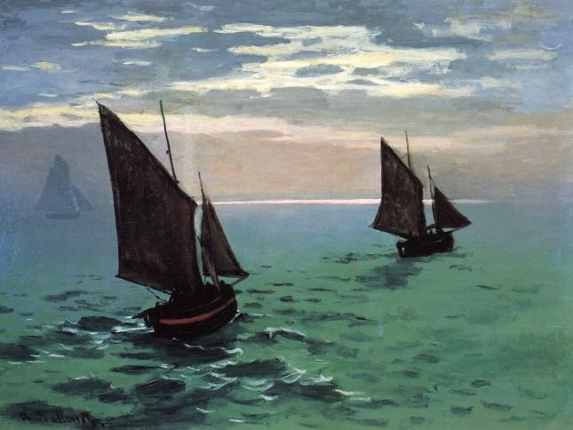 Barcos de pesca en el mar