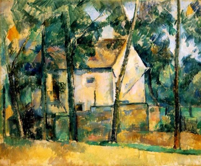 Casa y árboles