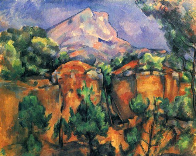 La montaña de Sainte-Victoire, vista desde Bibémus