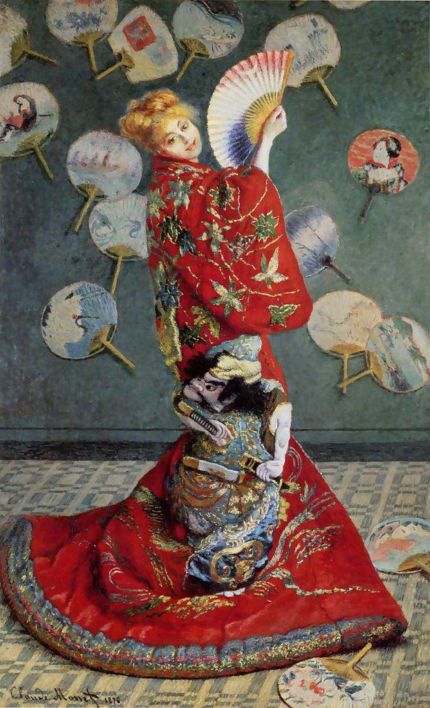 Madame Monet con vestido japonés