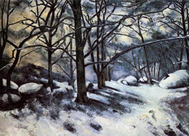 Nieve derretida en Fontainebleau