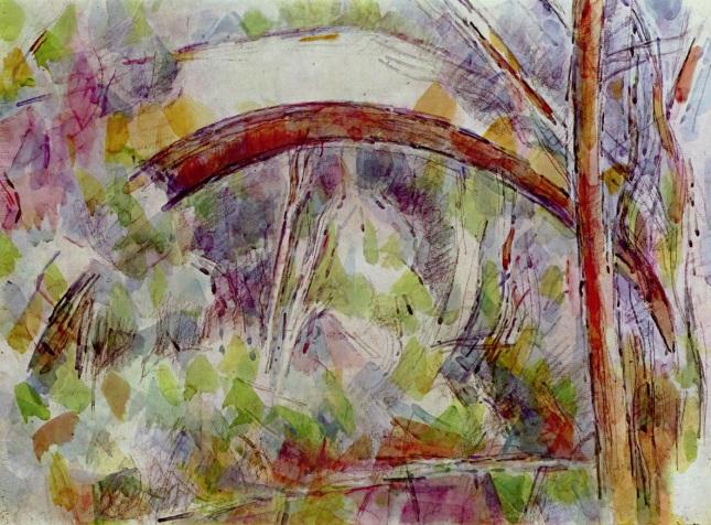 Río con el puente de las tres fuentes
