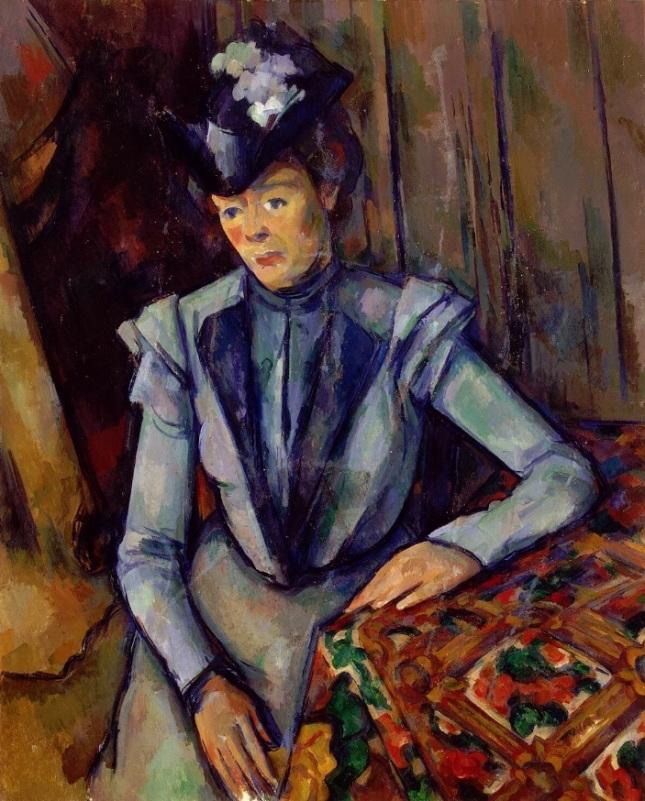 Retrato de dama en azul