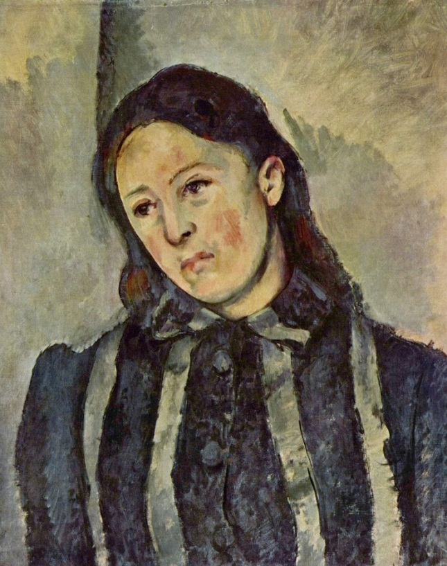 Retrato de Madame Cézanne con cabello suelto