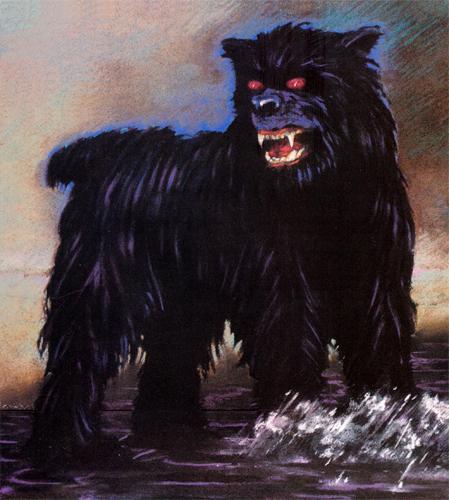 La sierra de Guadarrama. Perro-negro