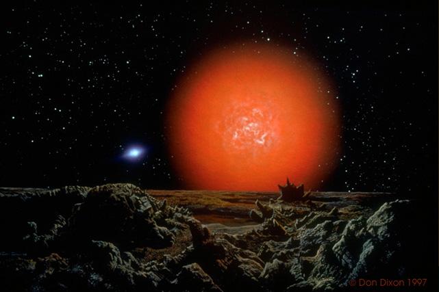 Resultado de imagen de Vivir en un planeta que orbitara la Estrella Antares