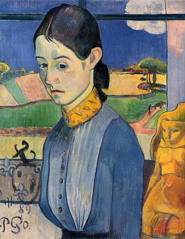 Mujer joven bretona