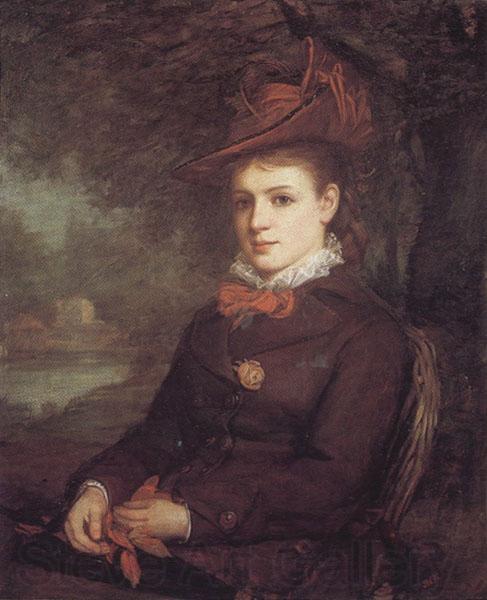 Retrato de una mujer joven - 1875-1878