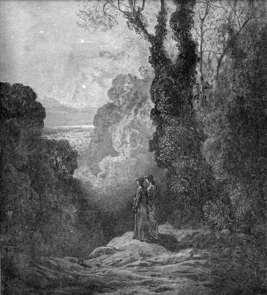 Gustave Doré (Illustrations of Divine Comedy - Purgatory -- Ilustraciones para La Divina Comedia - Purgatorio) (2/6)