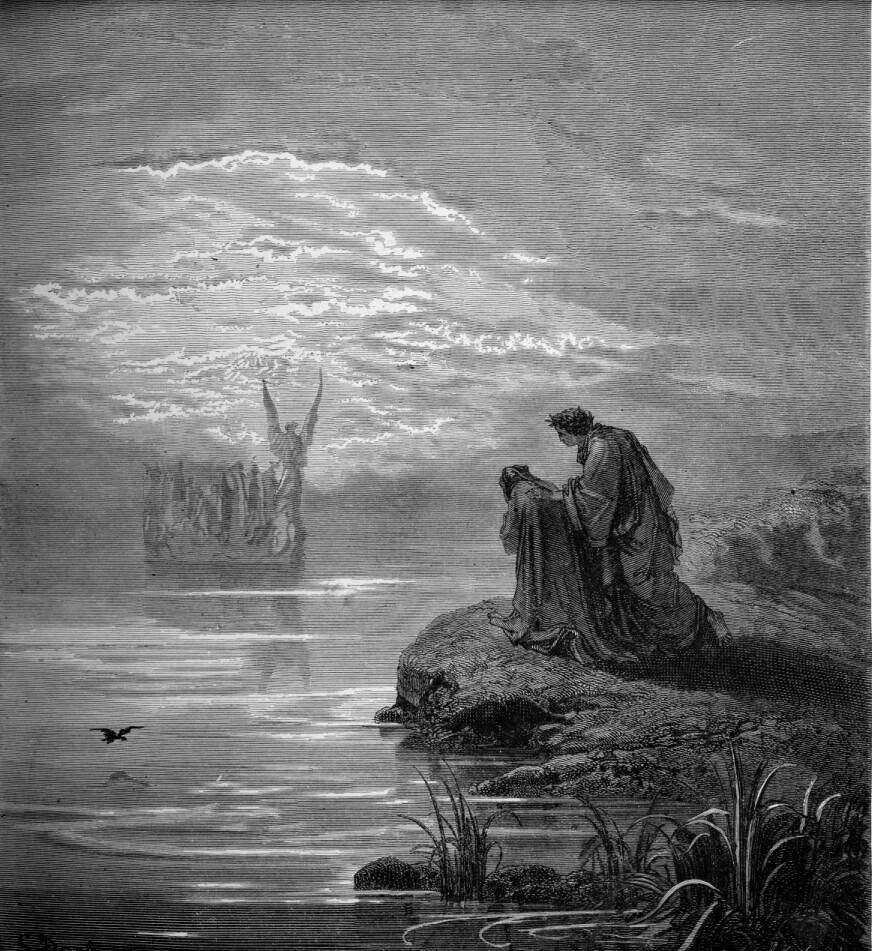 Gustave Doré (Illustrations of Divine Comedy - Purgatory -- Ilustraciones para La Divina Comedia - Purgatorio) (4/6)