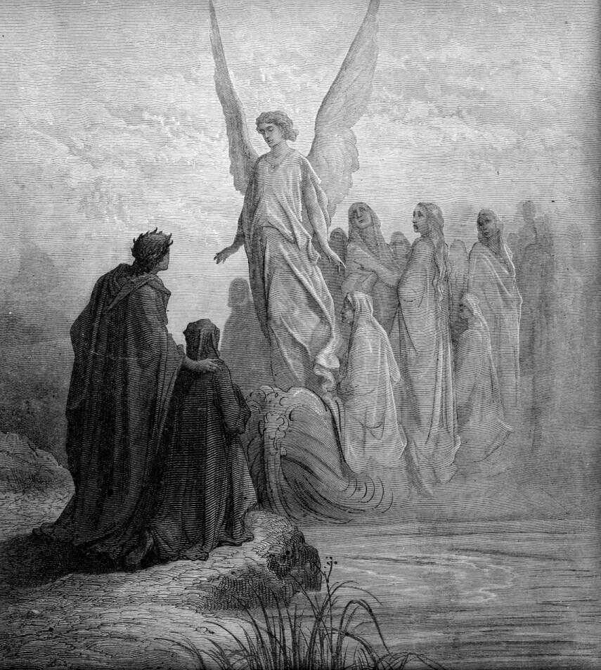 Gustave Doré (Illustrations of Divine Comedy - Purgatory -- Ilustraciones para La Divina Comedia - Purgatorio) (5/6)