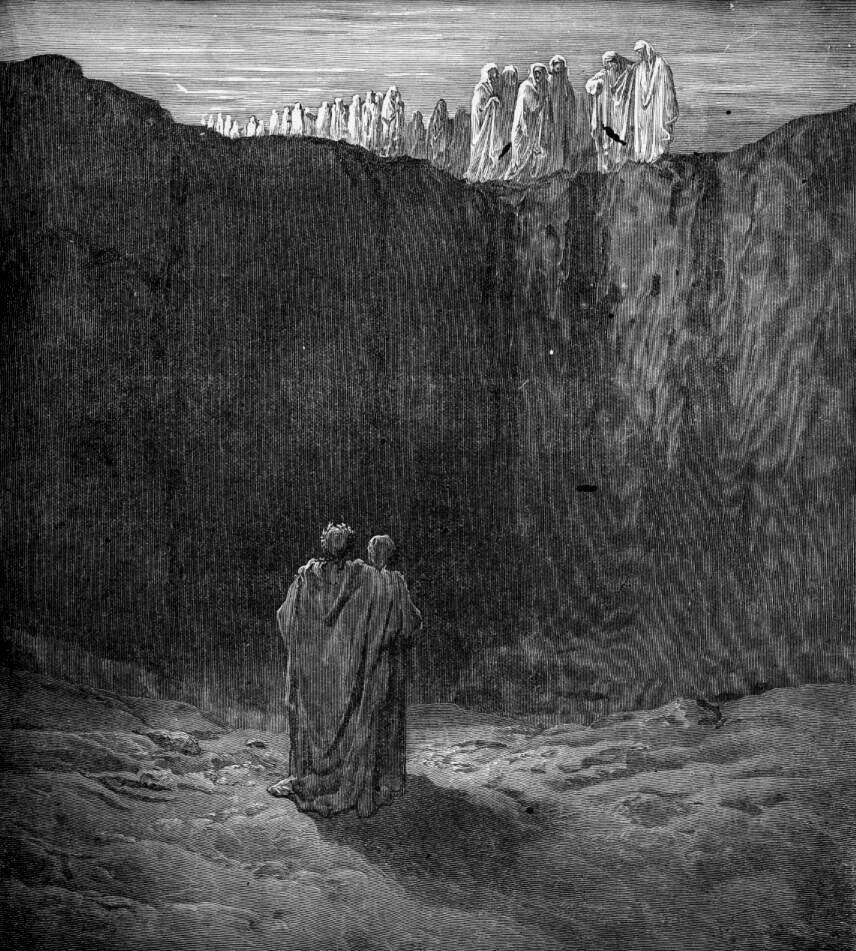 Gustave Doré (Illustrations of Divine Comedy - Purgatory -- Ilustraciones para La Divina Comedia - Purgatorio) (6/6)