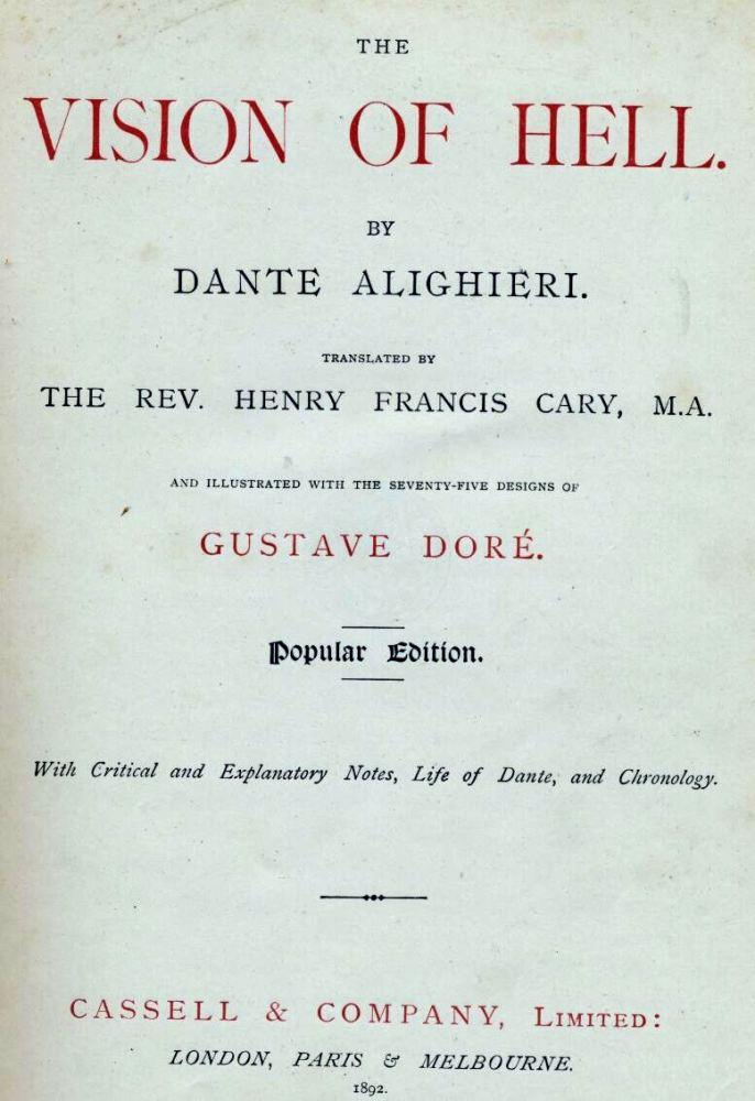 Gustave Doré (Illustrations of Divine Comedy - Hell -- Ilustraciones para La Divina Comedia - Infierno) (1/6)