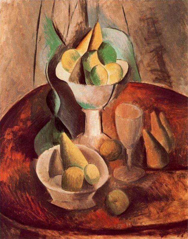 Fruta en un vaso