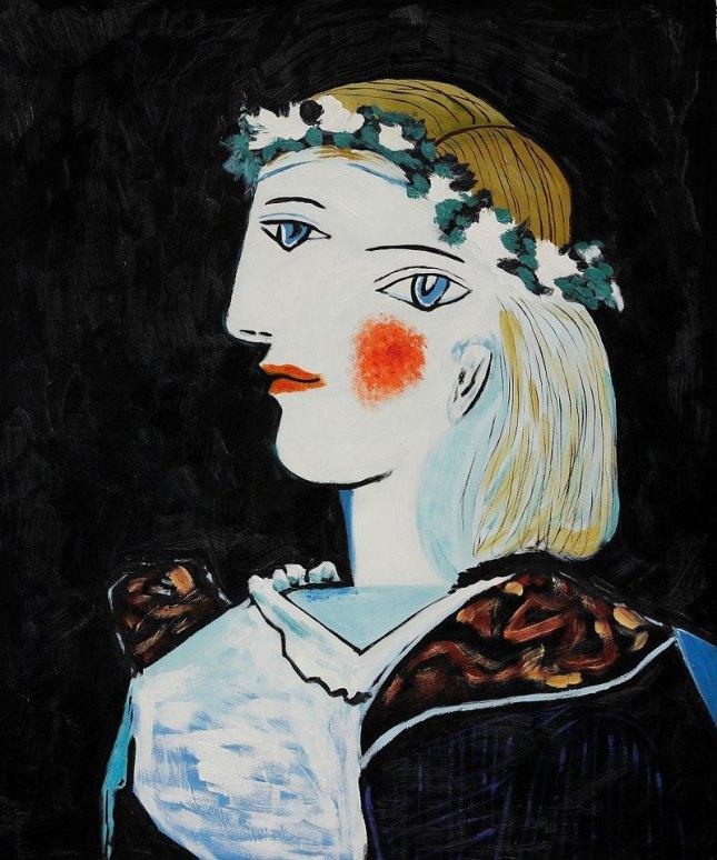 Retrato de Marie Thérèse Walter con guirnalda