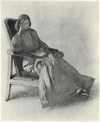 Elizabeth Siddal leyendo