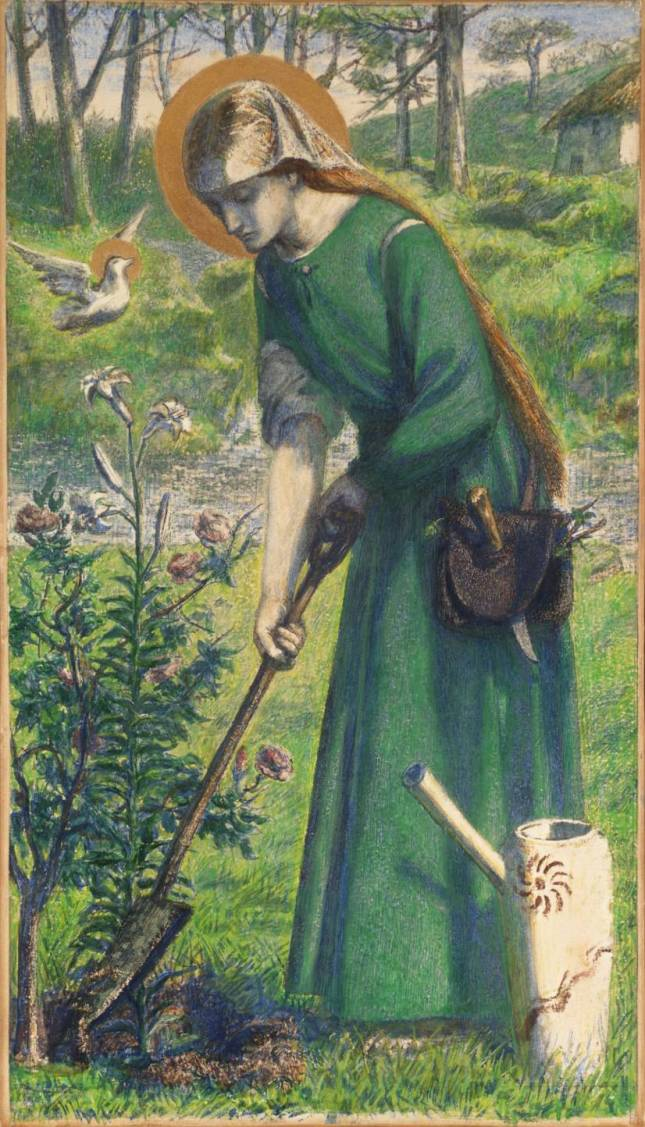 Mary Nazarene 1857 by Dante Gabriel Rossetti 1828-1882