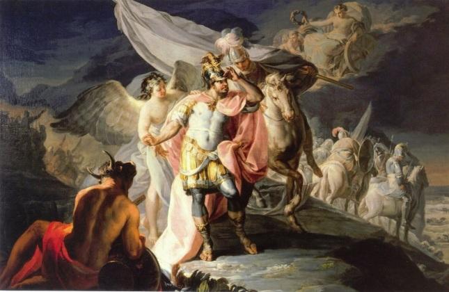 Aníbal vencedor contempla Italia desde los Alpes