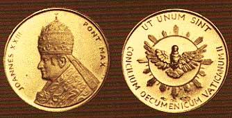Medalla de oro del Papa Juan XXIII para George Adamski