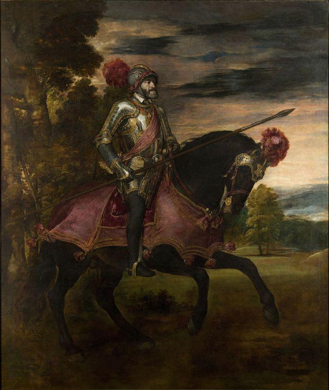 Tiziano - Carlos V a caballo en Mühlberg