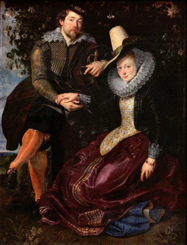 Autorretrato con su esposa Isabella Brant