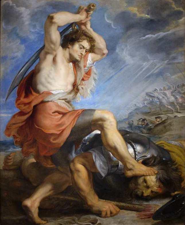 David derrotando a Goliat