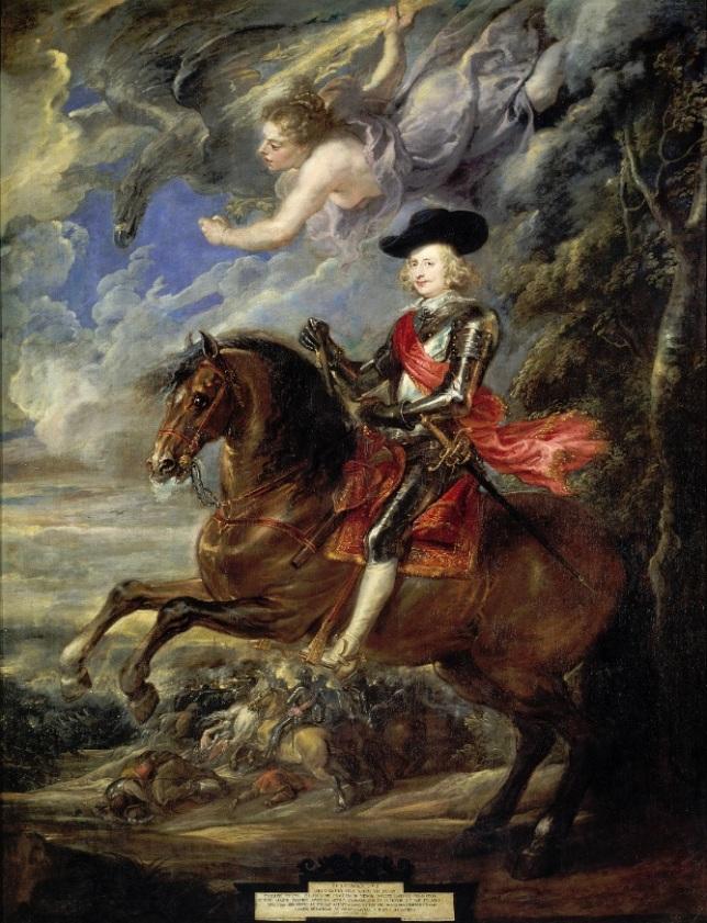 El Cardenal-Infante en la Batalla de Nördlingen