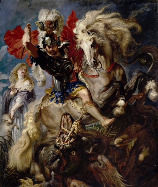 La lucha de San Jorge y el Dragón