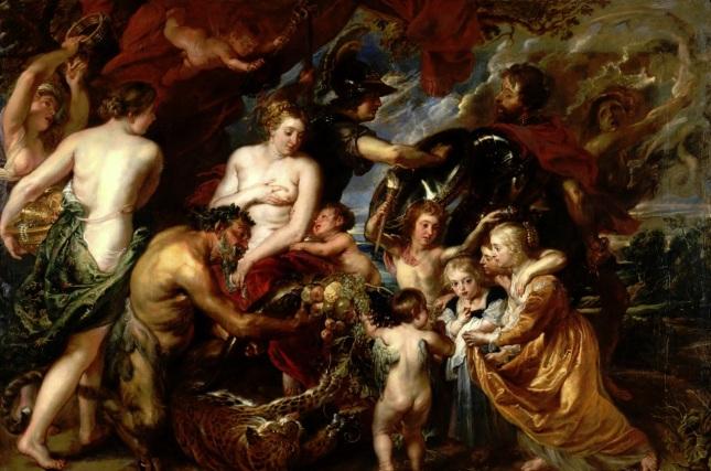 Minerva protege a Pax de Marte o Paz y Guerra