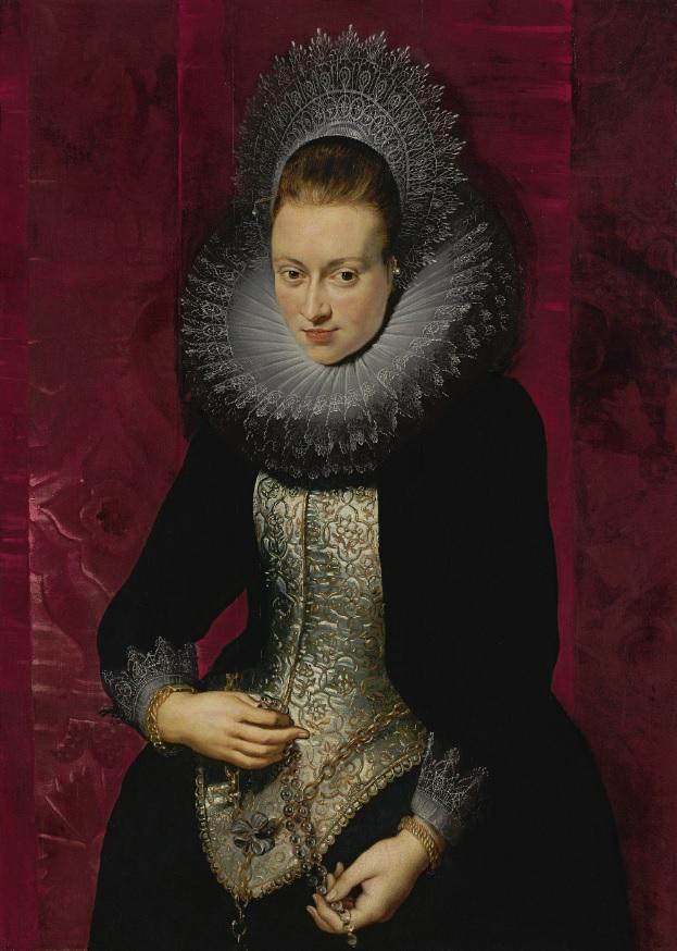 Retrato de joven dama con rosario