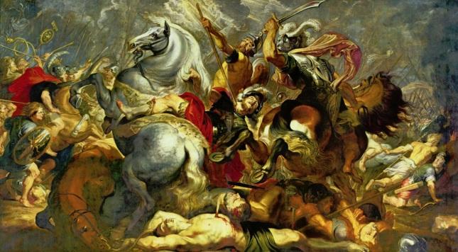 Victoria y muerte del cónsul Decio Mus en batalla