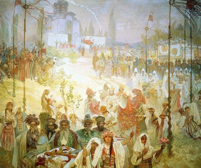 Coronación de Esteban Dušan como Emperador Romano de Oriente