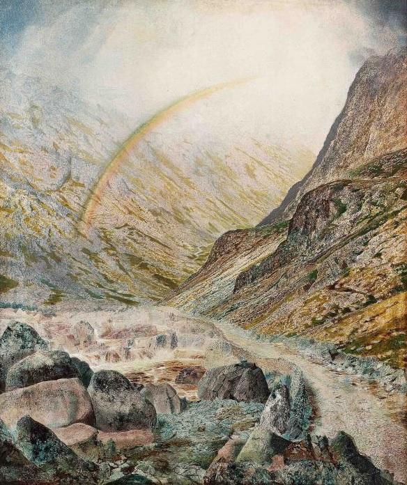 Camino de montaña, tiempo inundaciones (1868)