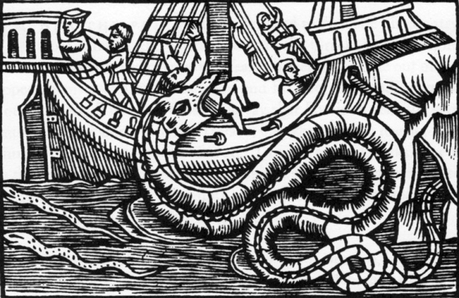 Olaus Magnus - Serpiente Marina (1555)