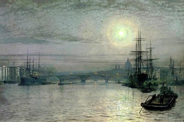 Puente de Londres, media marea