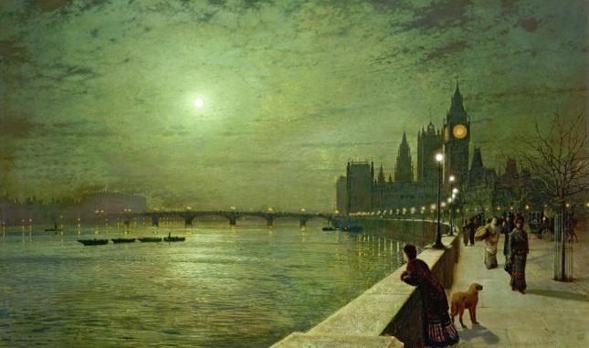 Reflejos en el Támesis, Westminster
