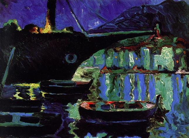 Puerto de Cadaqués, noche