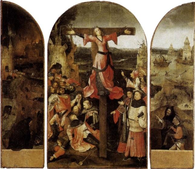 La crucifixión de Santa Julia