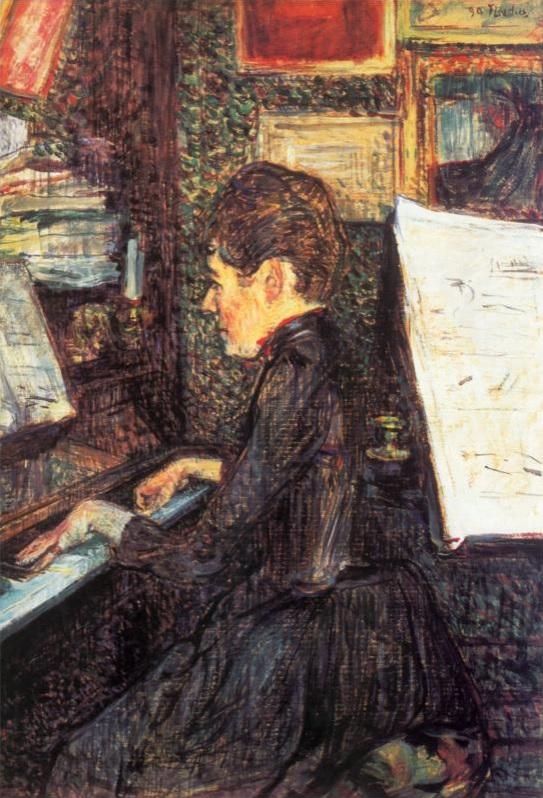 Mademoiselle Dihau en el piano