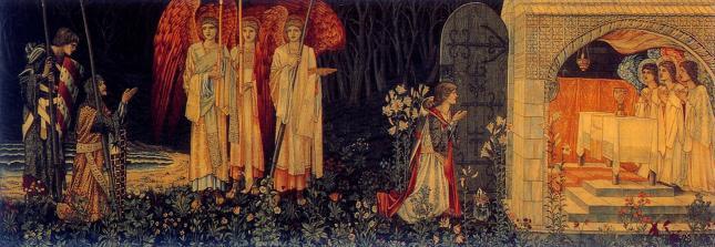 Edward Burne-Jones - El Logro - La visión del Santo Grial a Sir Galahad, Sir Bors y Sir Perceval