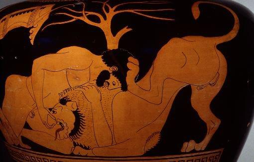 Hércules derrotando al León de Nemea