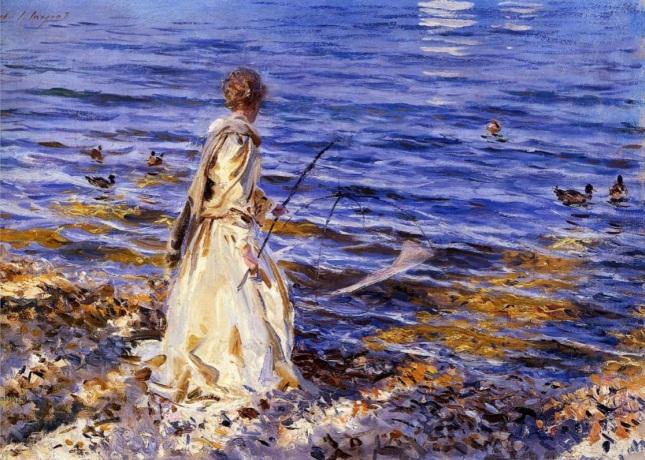 Chica pescando
