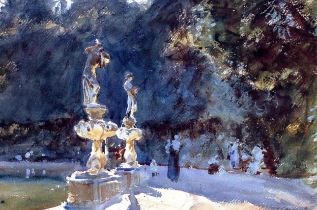 Fuente en los Jardines Boboli de Florencia