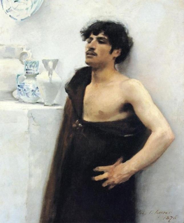Hombre joven ensimismado