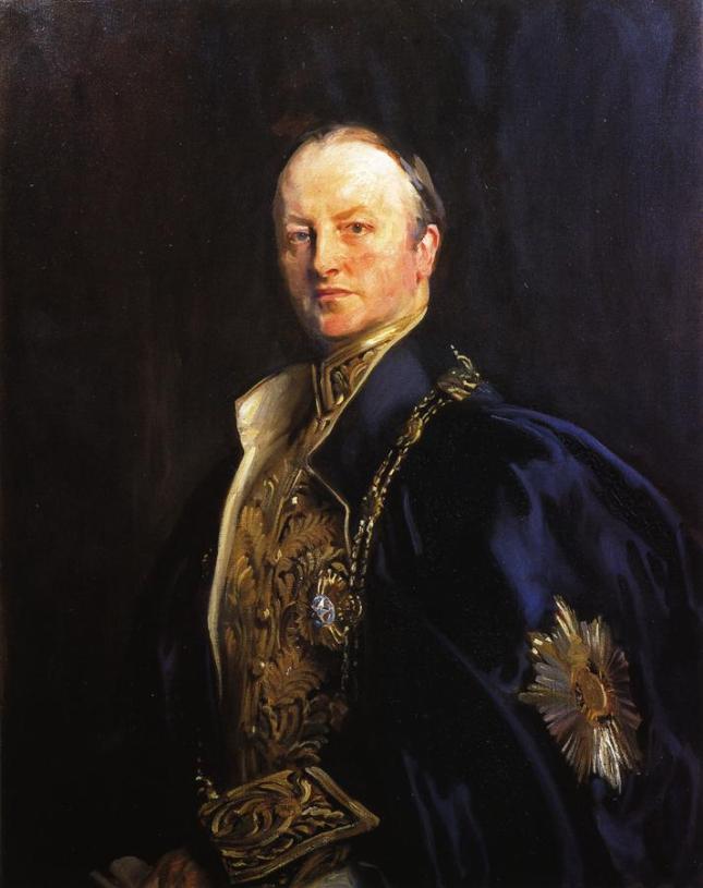 Retrato de George Nathaniel Curzon